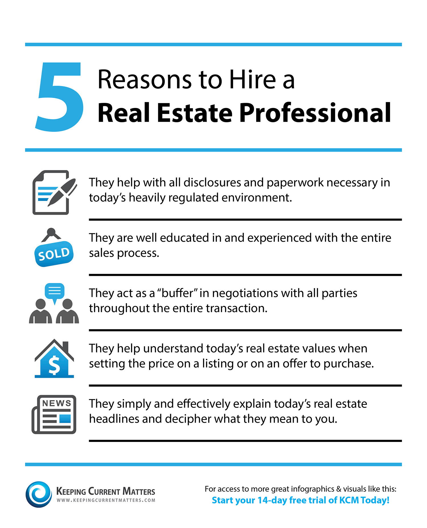 reasons to hire a real estate professional infographic keeping
