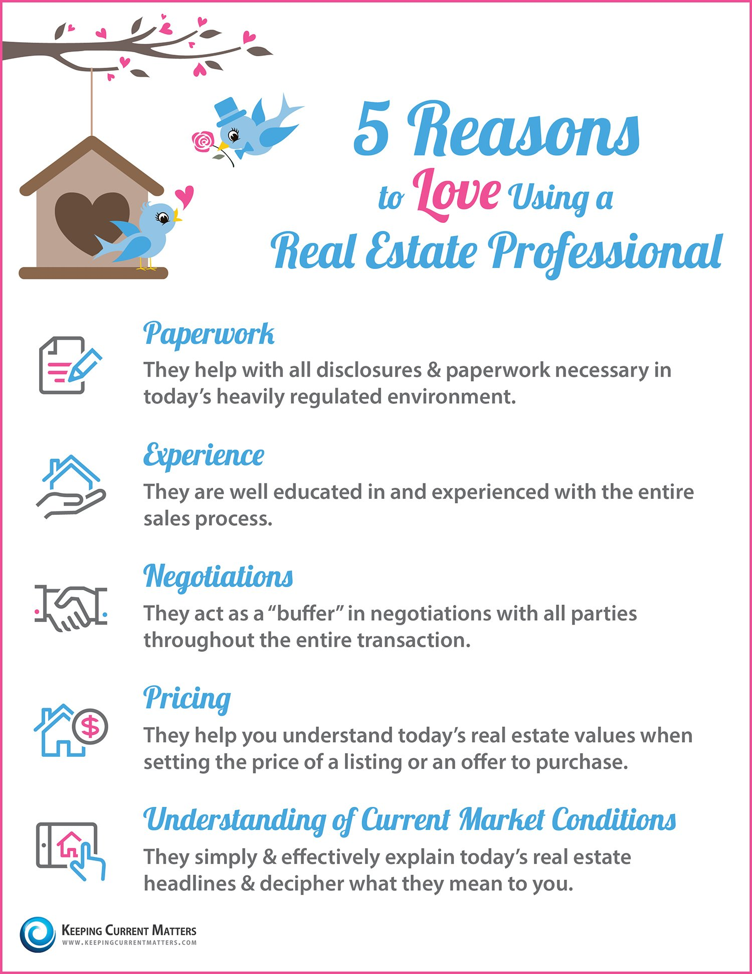 Five Reasons to Love Using a Real Estate Professional
