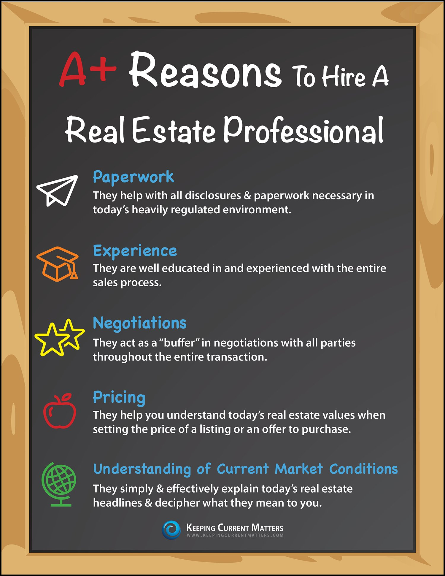 a reasons to hire a real estate professional infographic keeping