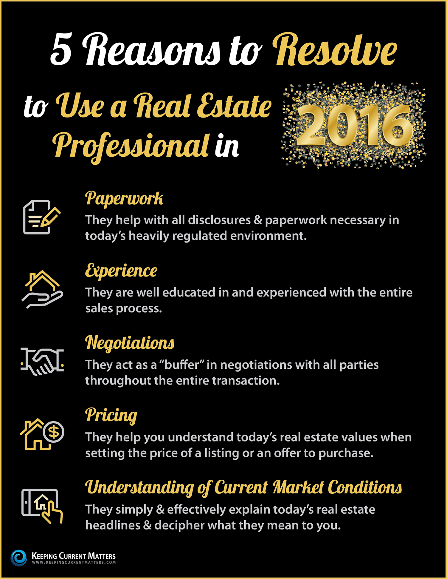 Resolve to Use a Real Estate Professional in 2016 [INFOGRAPHIC]   Keeping Current Matters