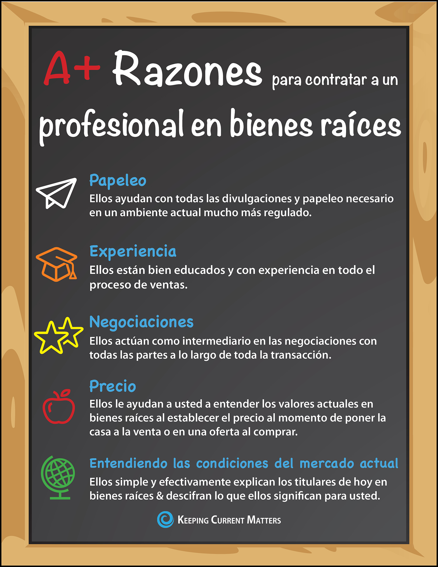 Want to Get an A? Hire A Real Estate Professional [INFOGRAPHIC] | Keeping Current Matters