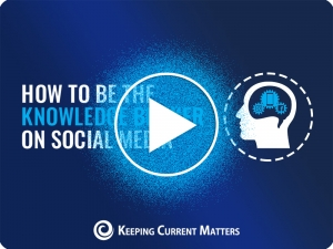 How to Be the Knowledge Broker on Social Media   Keeping Current Matters
